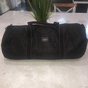 Victoria Secret Black Duffle Bag